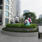 Sculpture de pandas de Marinetti