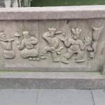 Wuhou Ci - sculpture du pont