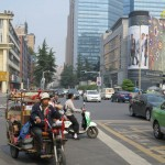 Vue sur une rue de Chengdu