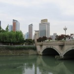 Buildings, pont de la rivière Jinjiang