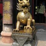 Temple Wenshu - un lion gardien