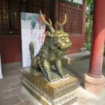 Temple Wenshu - un lion gardien stylisé