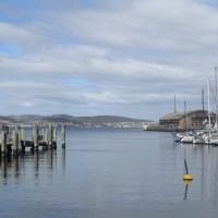 Hobart vue sur le port