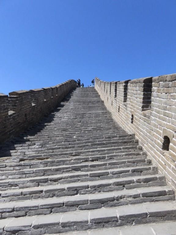 Les escaliers de la muraille