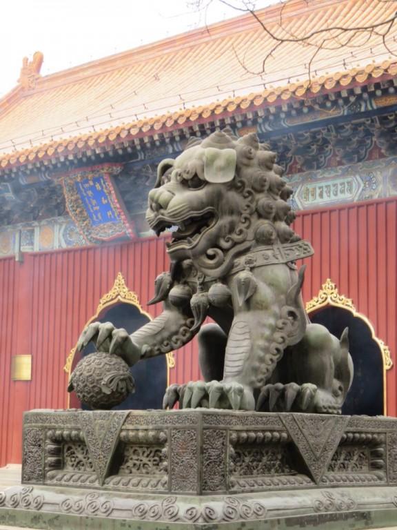 Lion chinois le gardien