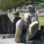 kaikoura, scultptures en bois