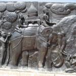 Bas relief vieille ville de Sukhothai