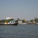 Bateau sur la rivière Chao Phraya