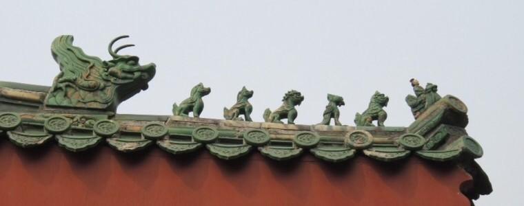 Temple des Lamas, sculptures du toit