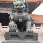 Lion avec un globe