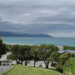 Kaikoura, vue sur la baie de l'auberge