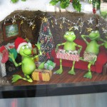Melbourne - Les grenouilles de la vitrine animée Myer