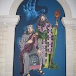 Peinture dans la Basilique Ste Anne de Beaupré