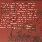Musée Shaputuan texte sur la chasse