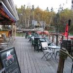 Terrase du bar de l'auberge La Maison à Majorique